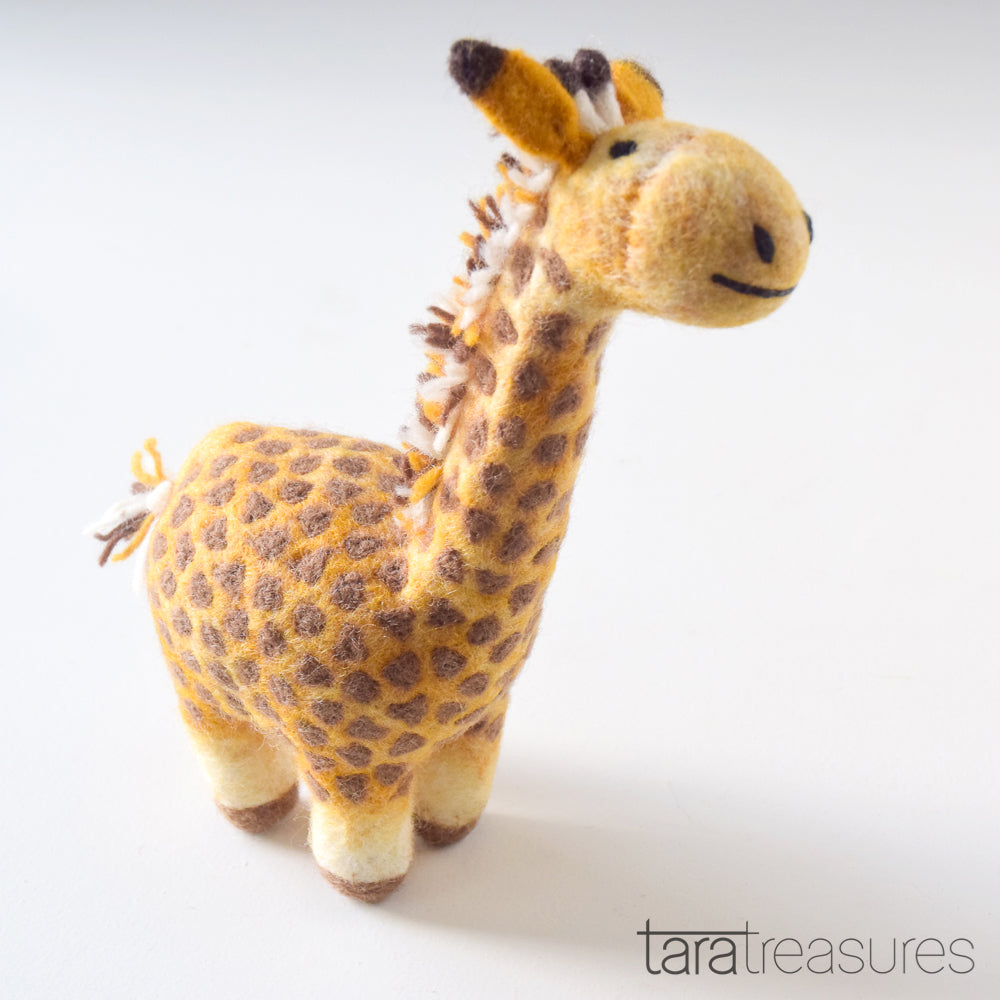 Felt Giraffe Toy - Big - Tara Treasures