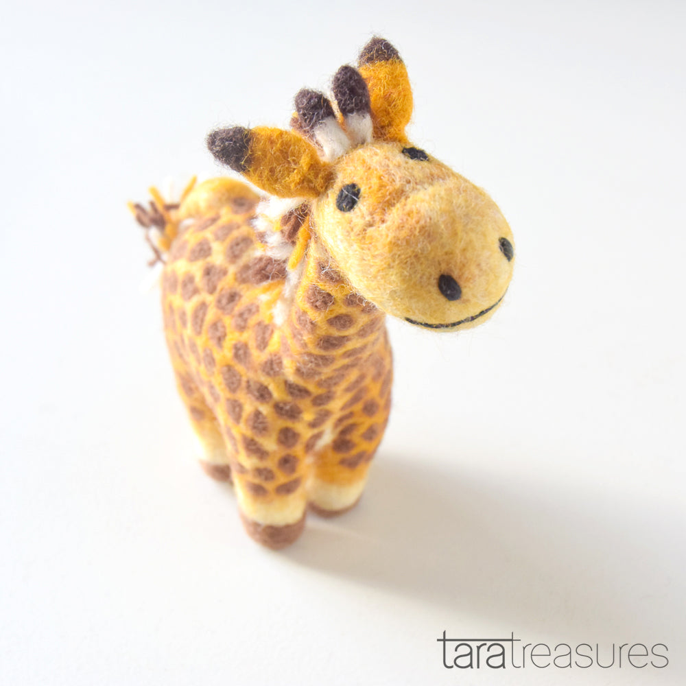 Felt Giraffe Toy - Medium - Tara Treasures