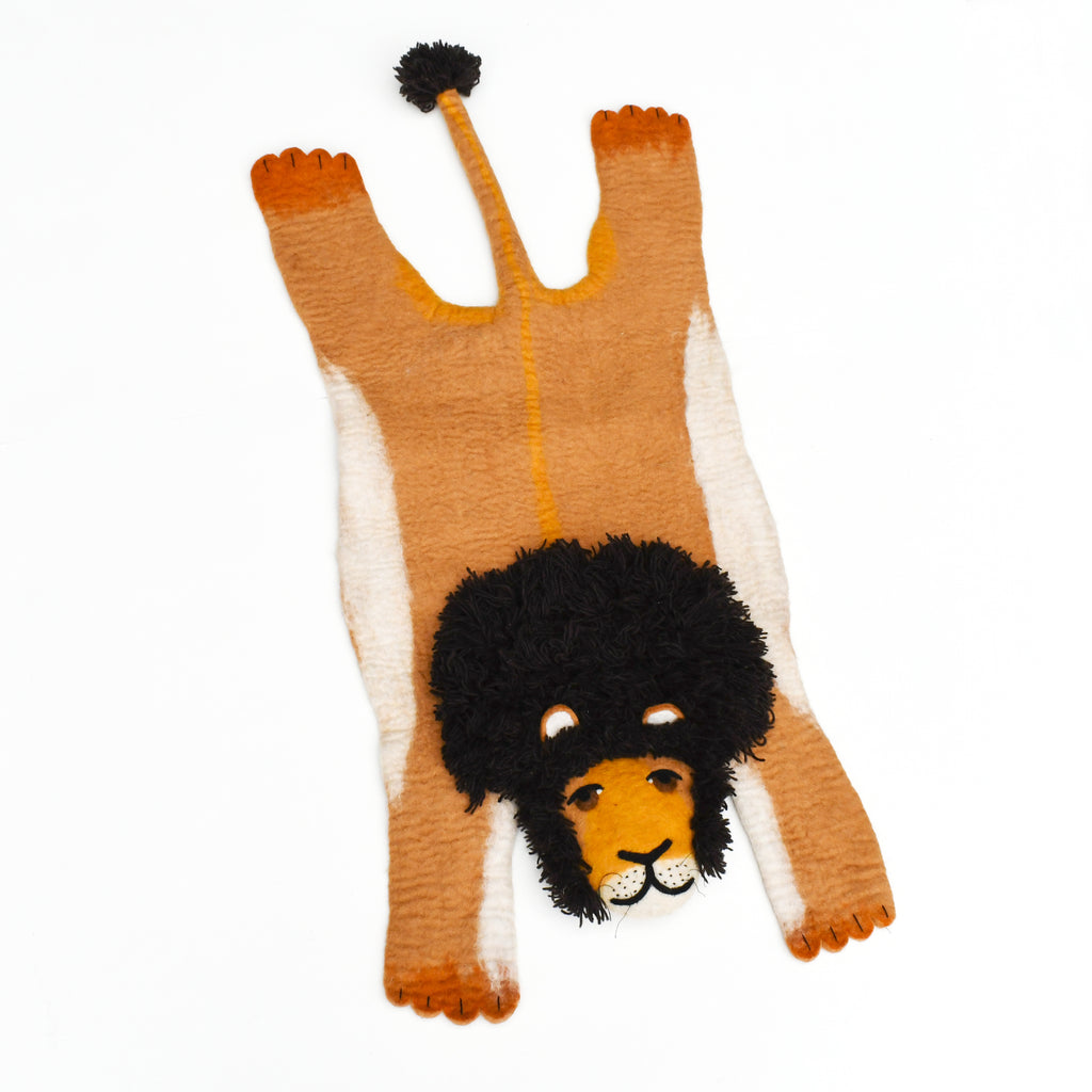 Felt Animal Rug - Lion - Tara Treasures