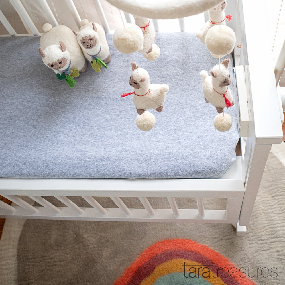 Nursery Cot Mobile - Dancing Llamas - Tara Treasures