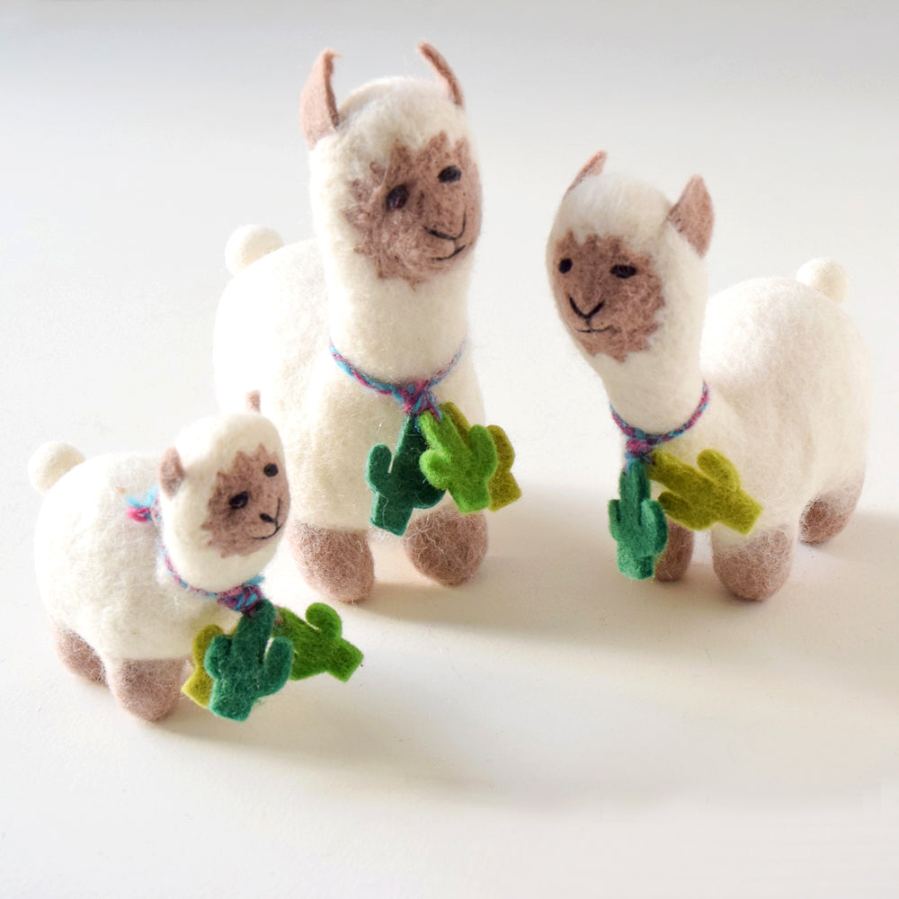 Felt Llama Toy - Big - Tara Treasures
