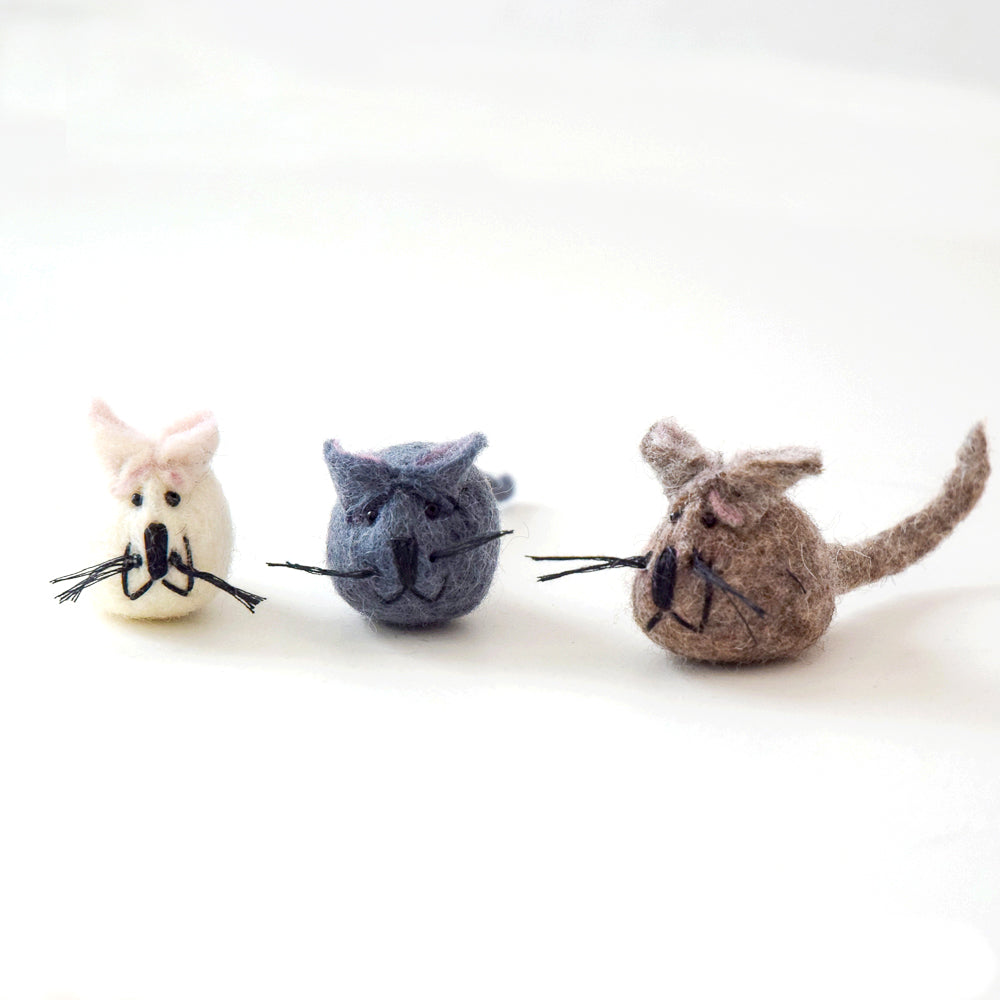 Felt Mouse Toy for Cats - Tara Treasures