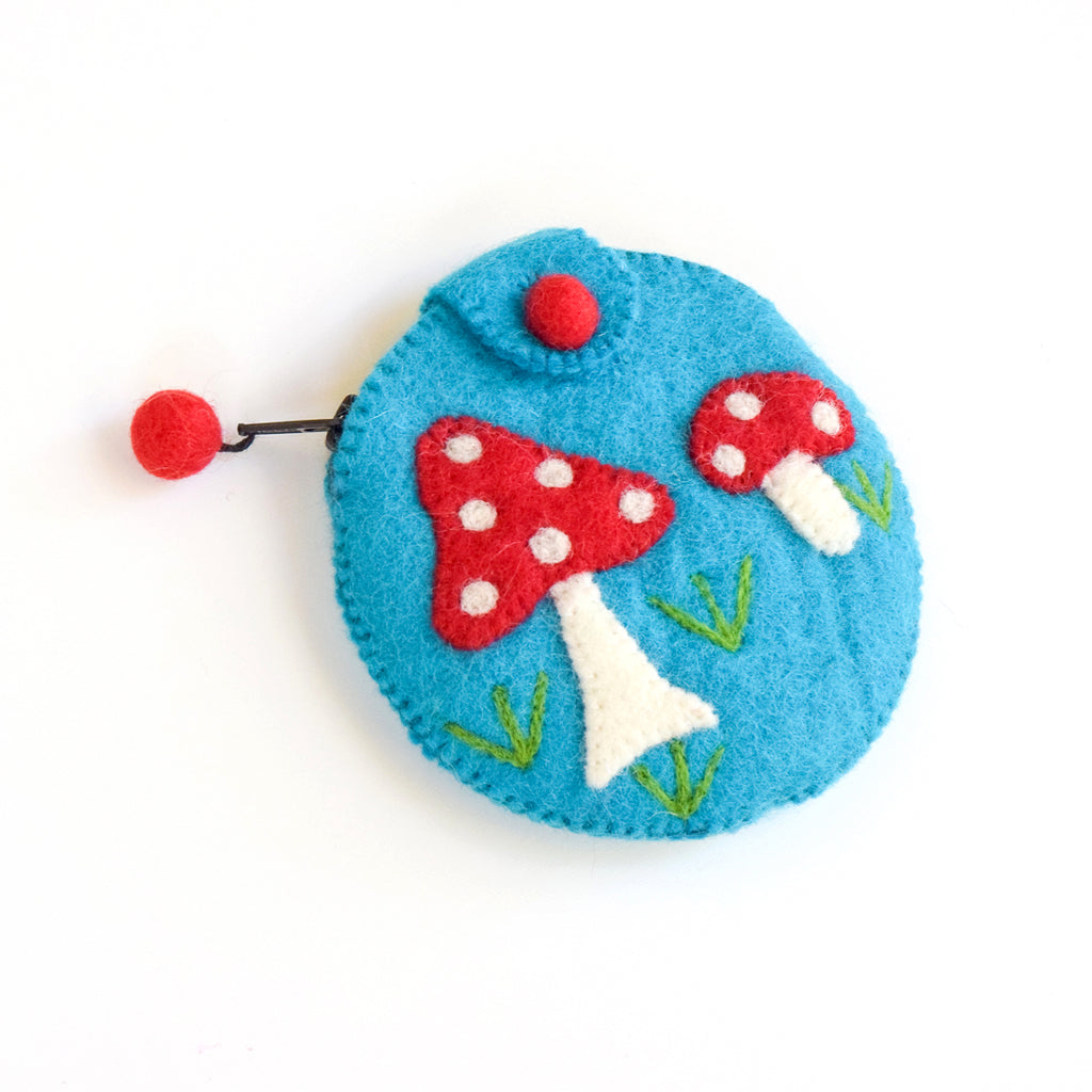 Purse - Mushroom (Cyan) - Tara Treasures