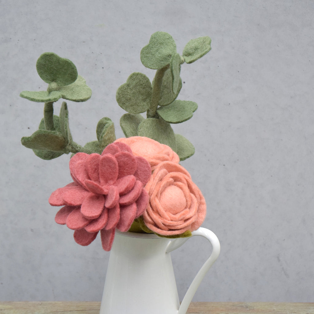 Felt Peony Flower - Peach - Tara Treasures
