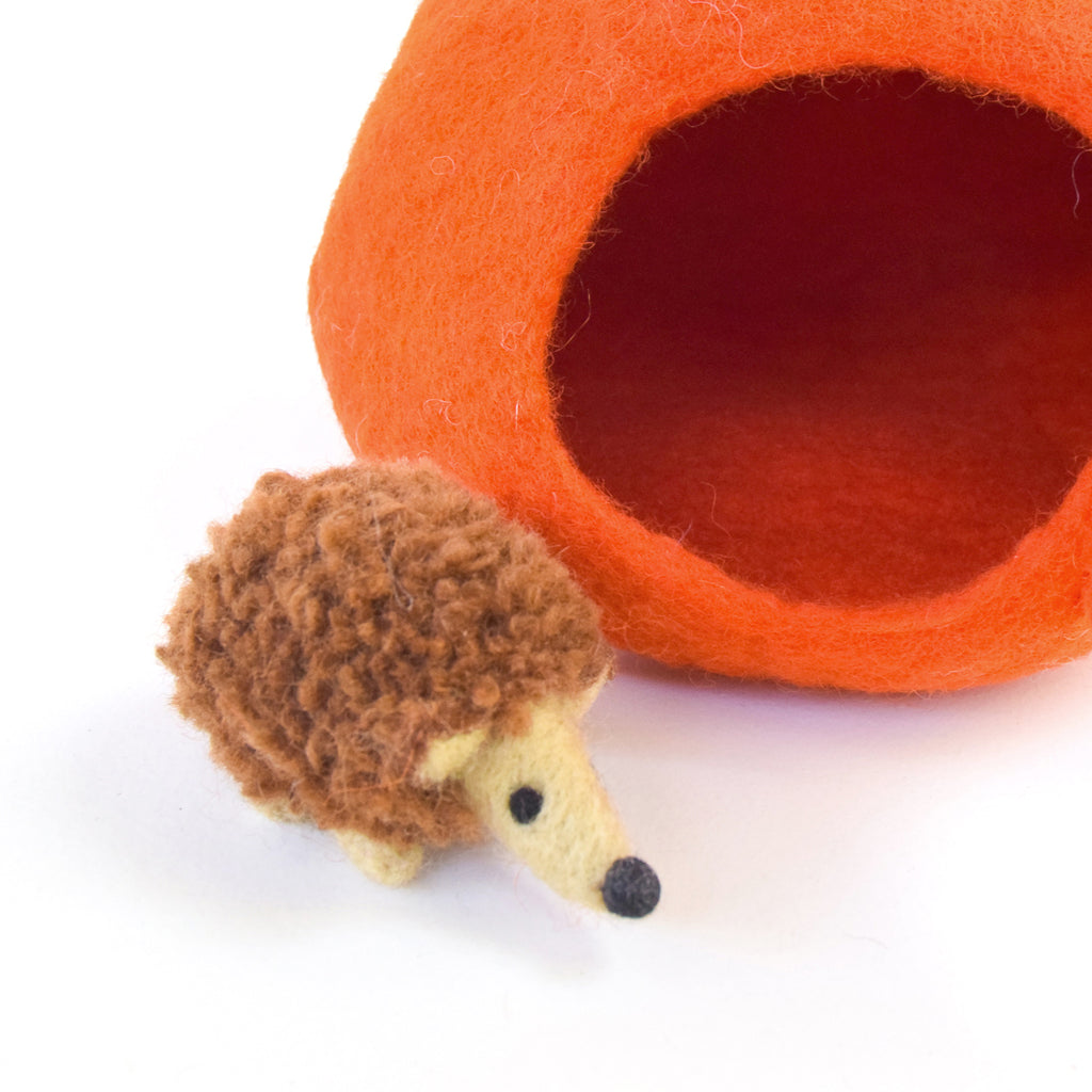 Felt Tomato House with Hedgehog Toy - Tara Treasures