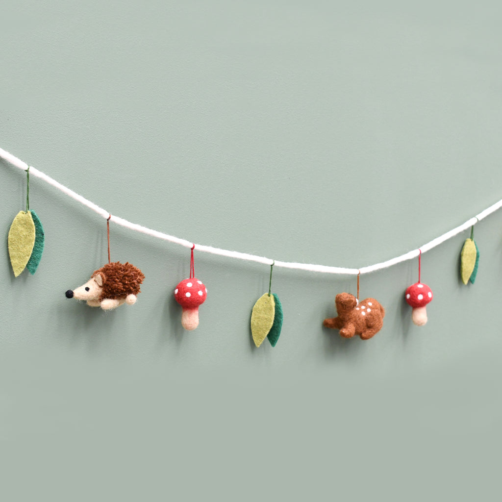 Woodland Animals Felt Garland - Tara Treasures