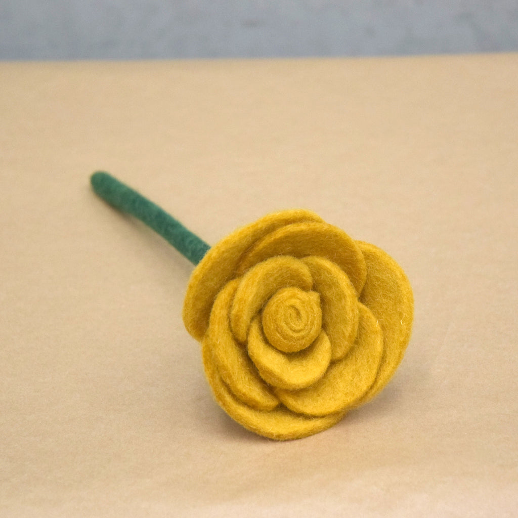 Felt Rose - Yellow - Tara Treasures