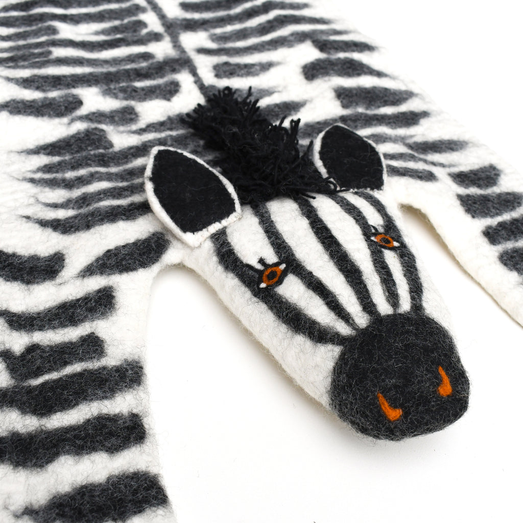 Felt Animal Rug - Zebra - Tara Treasures