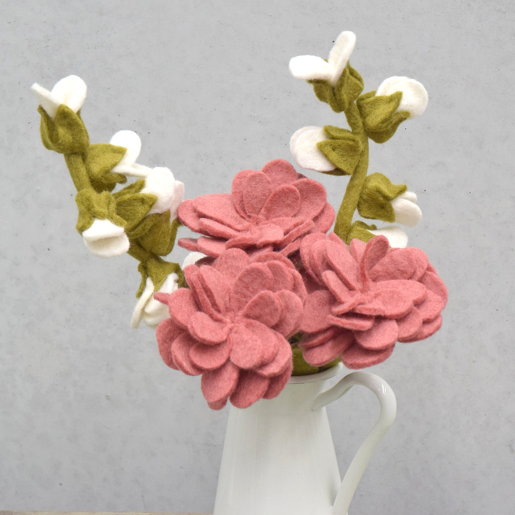 Felt Zinnia Flower - Tara Treasures