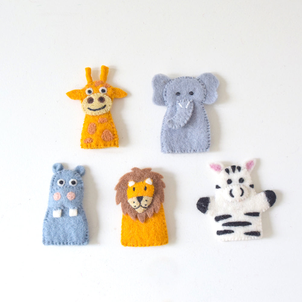 Finger Puppets - Safari Animals (Set of 5) - Tara Treasures