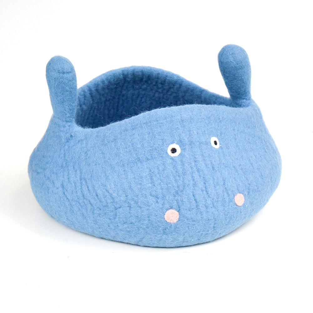 Cat Cave - Blue Hippo Bucket - Tara Treasures