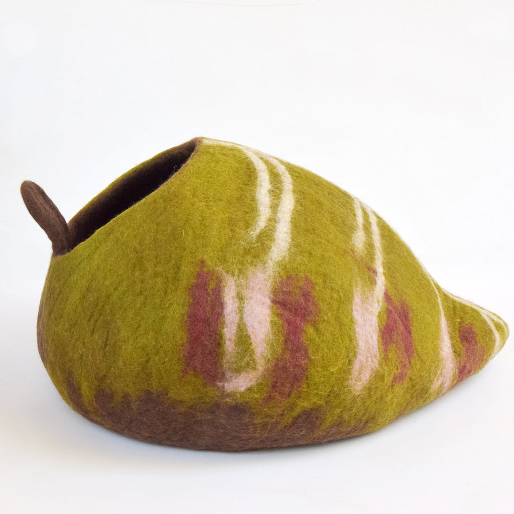 Cat Cave - Leaf Shaped - Tara Treasures