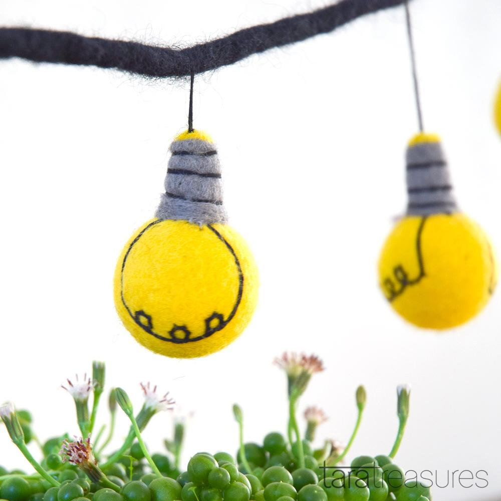 Light Bulb Garland - Tara Treasures