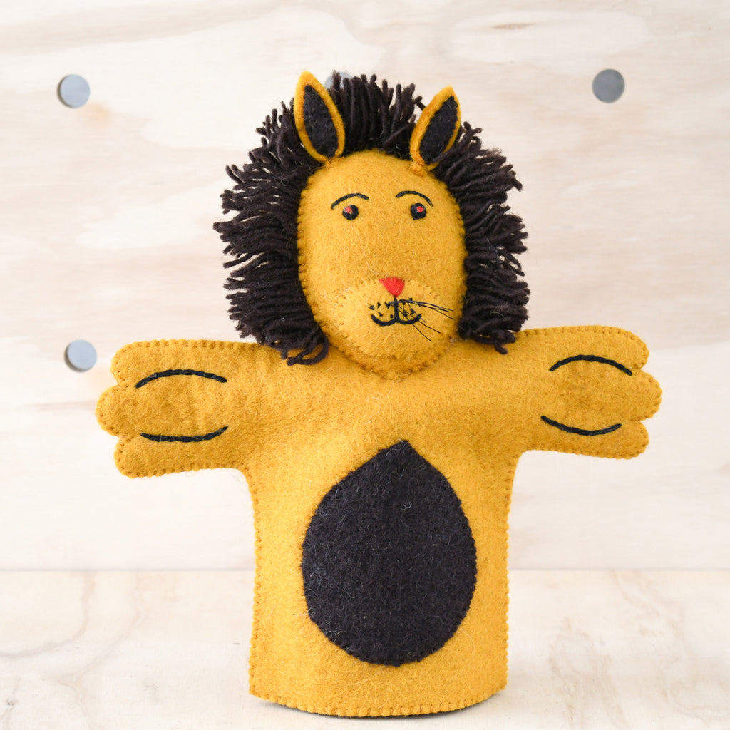 Hand Puppet - Lion - Tara Treasures