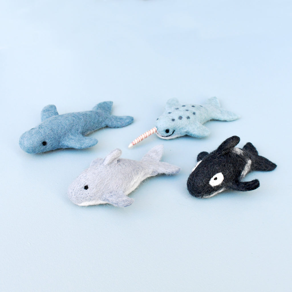 Felt Whale Toy - Tara Treasures