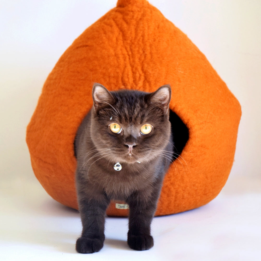 Cat Cave - Pod Burnt Orange - Tara Treasures