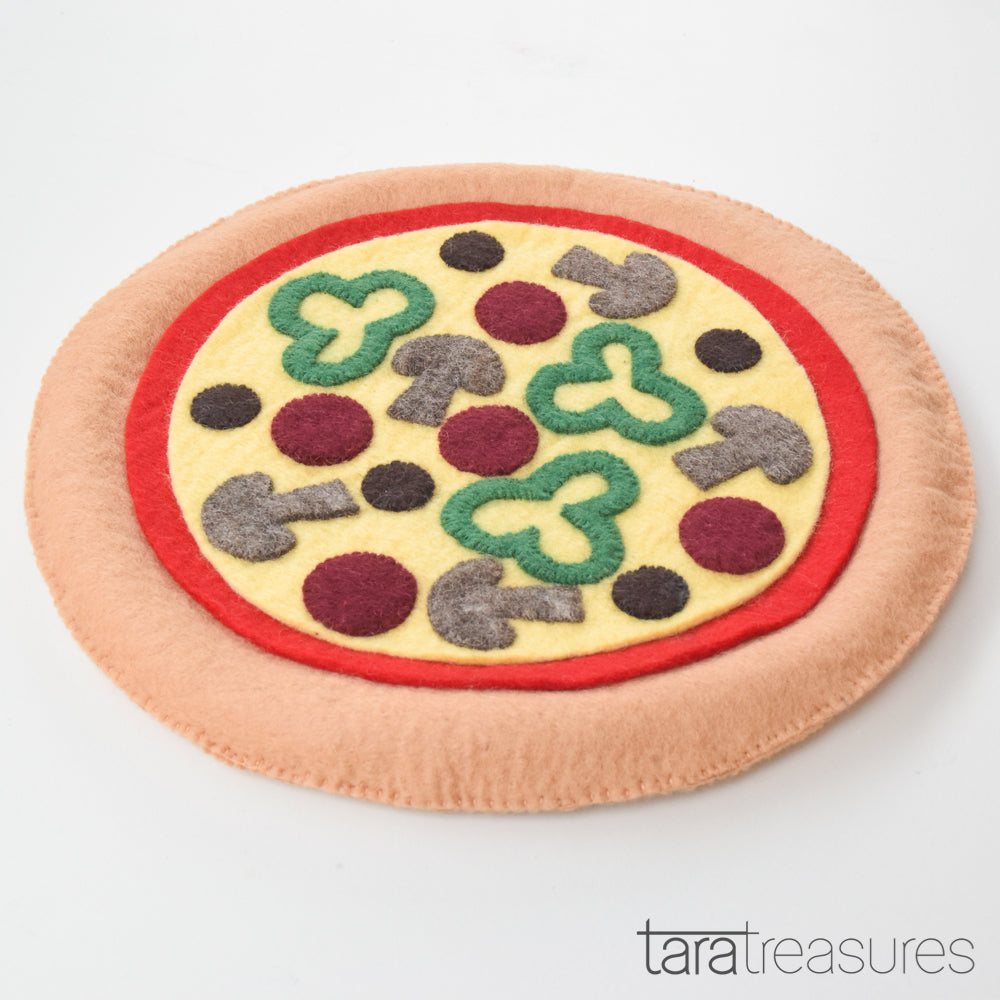 Felt Pizza Floor Cushion - Tara Treasures