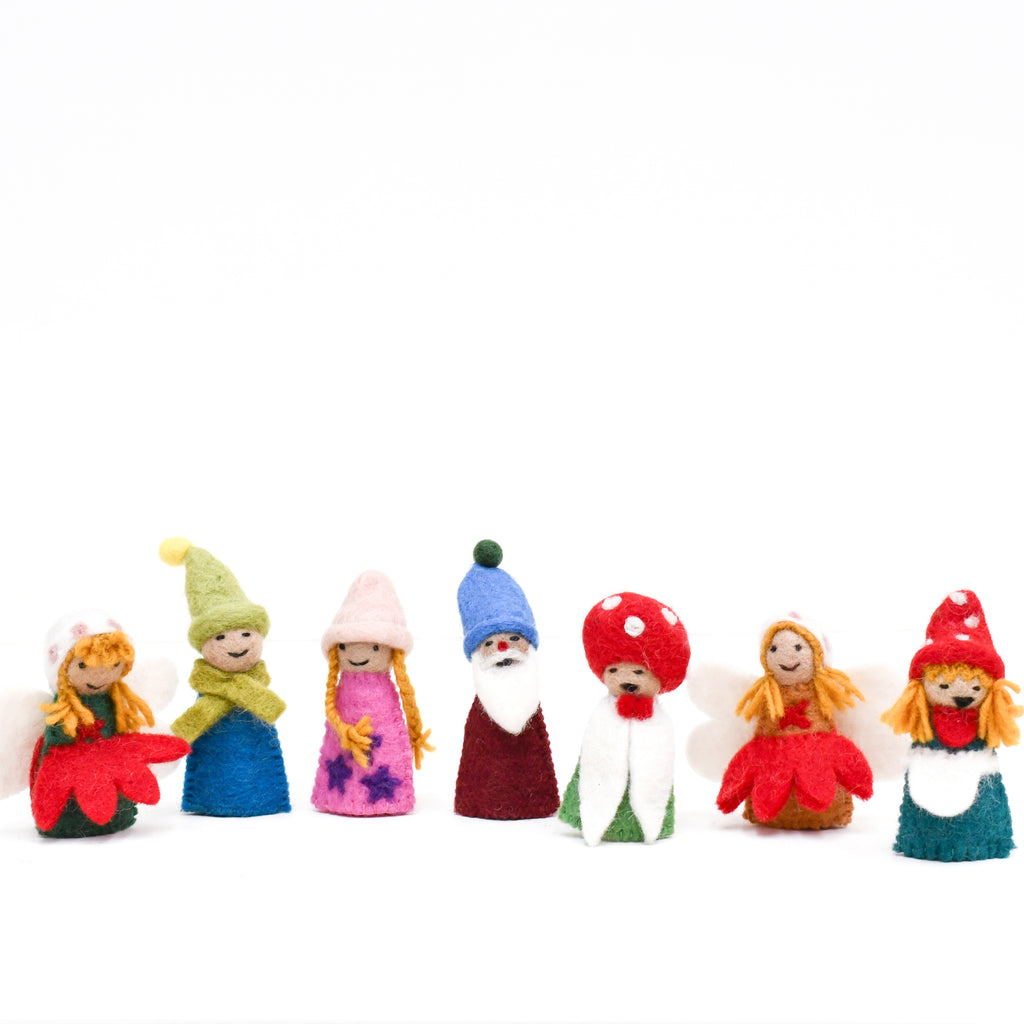 Fairies & Gnomes Finger Puppet Set - Tara Treasures