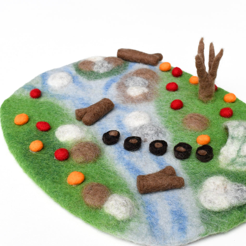 Woodland River Play Mat Playscape - Tara Treasures