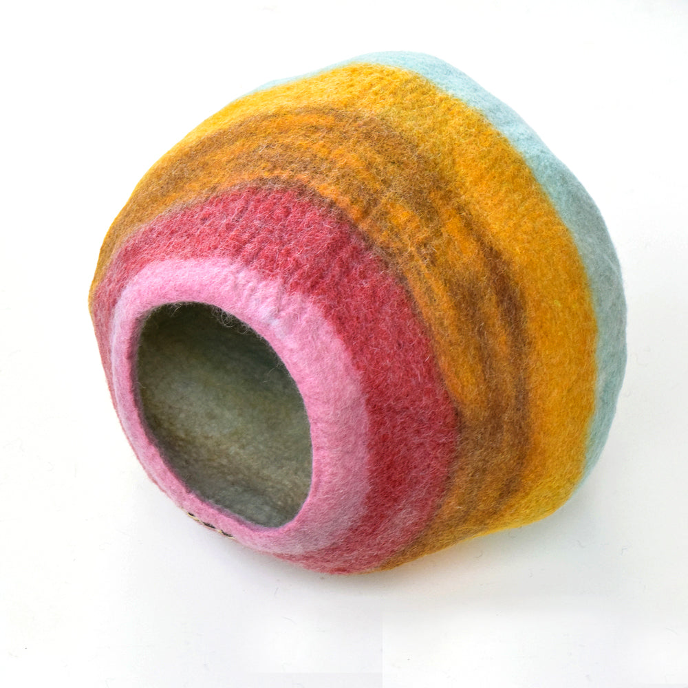Cat Cave - Sunset Stripes Cocoon - Tara Treasures