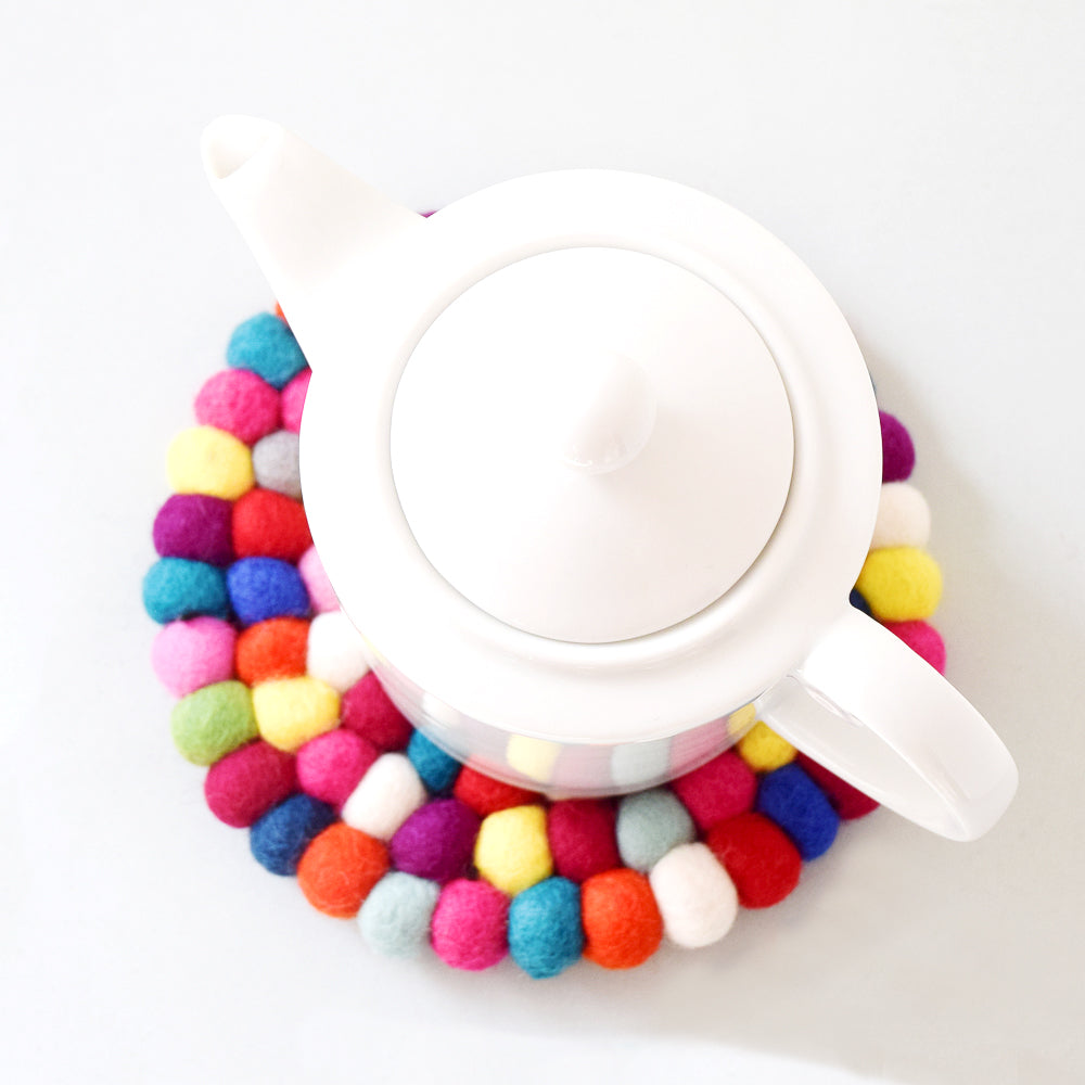 Teapot Trivet - Colourful 20cm - Tara Treasures