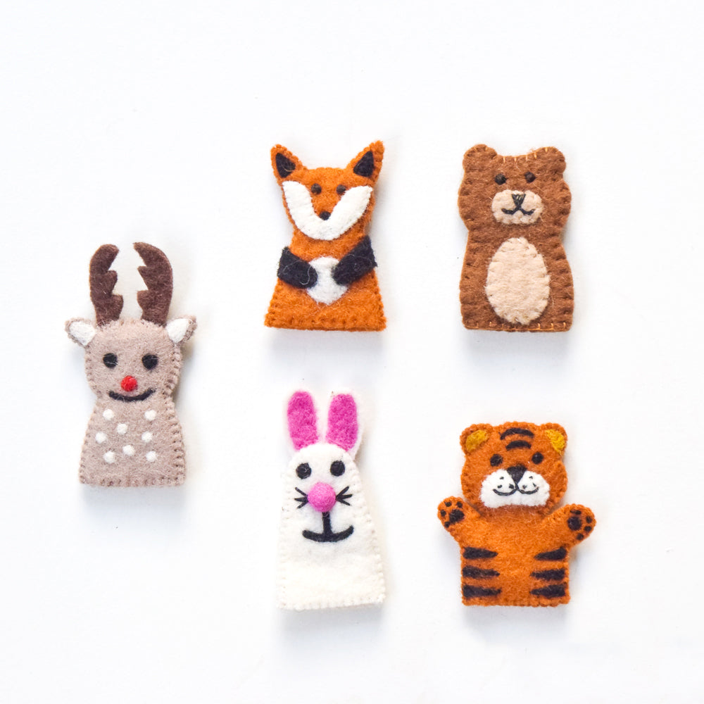 Finger Puppets - Woodland Animals (Set of 5) - Tara Treasures