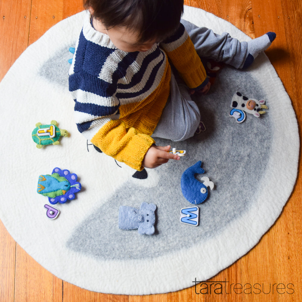 Felt Nursery Rug - Polar Bear - Tara Treasures