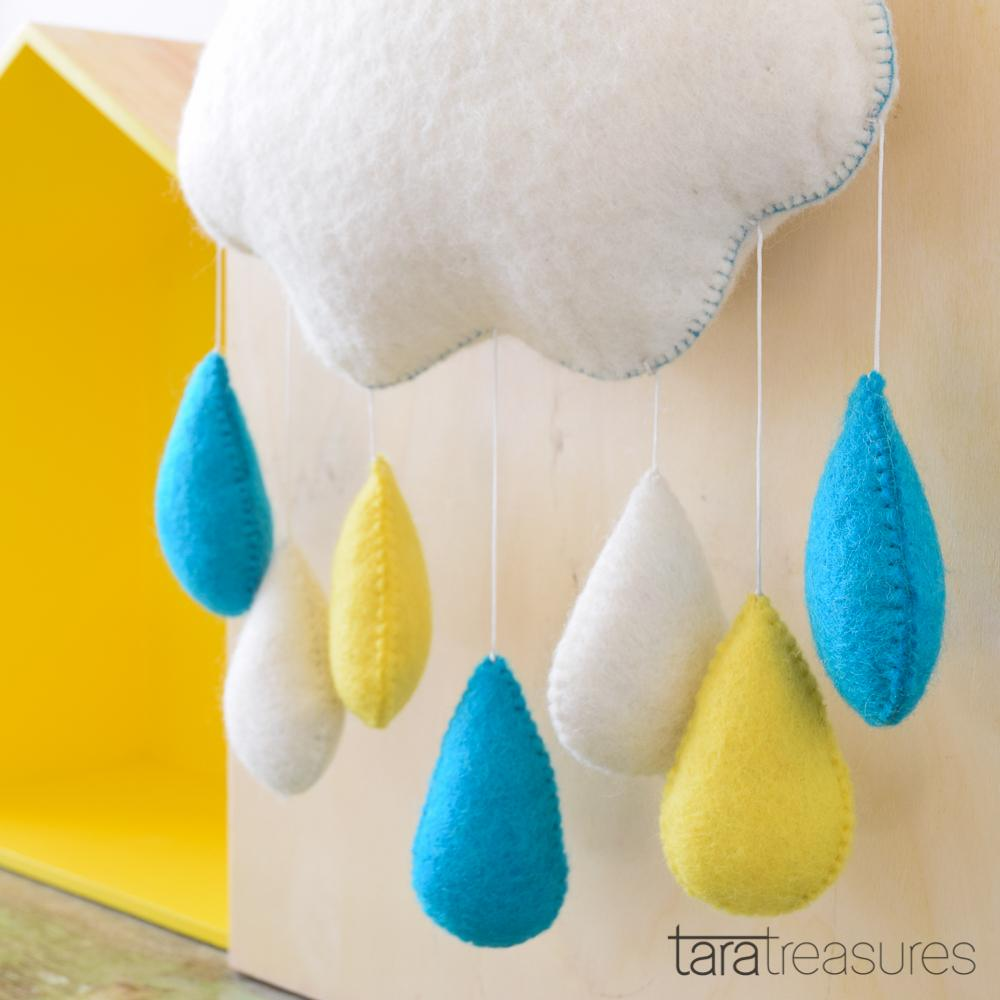 Cloud Nursery Mobile - Big Blue Sky - Tara Treasures