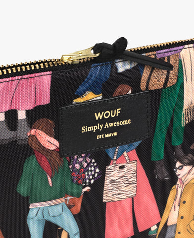 Pochette XL Girls - Wouf - Coeur Grenadine