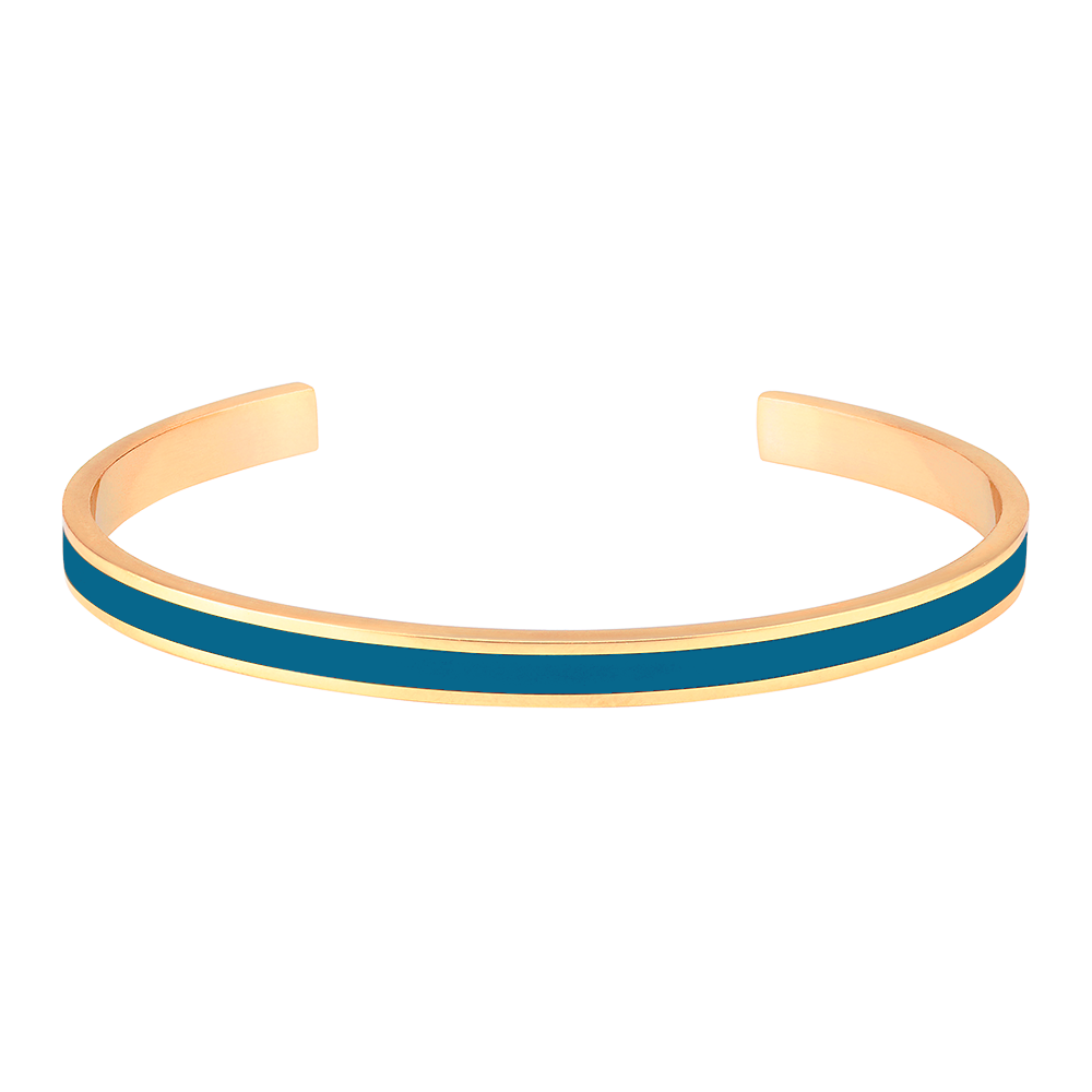 Jonc Bangle Bleu Canard - bangle-up - Coeur Grenadine