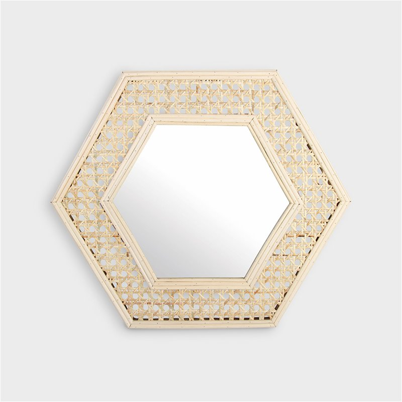 Miroir Cannage Hexagone
