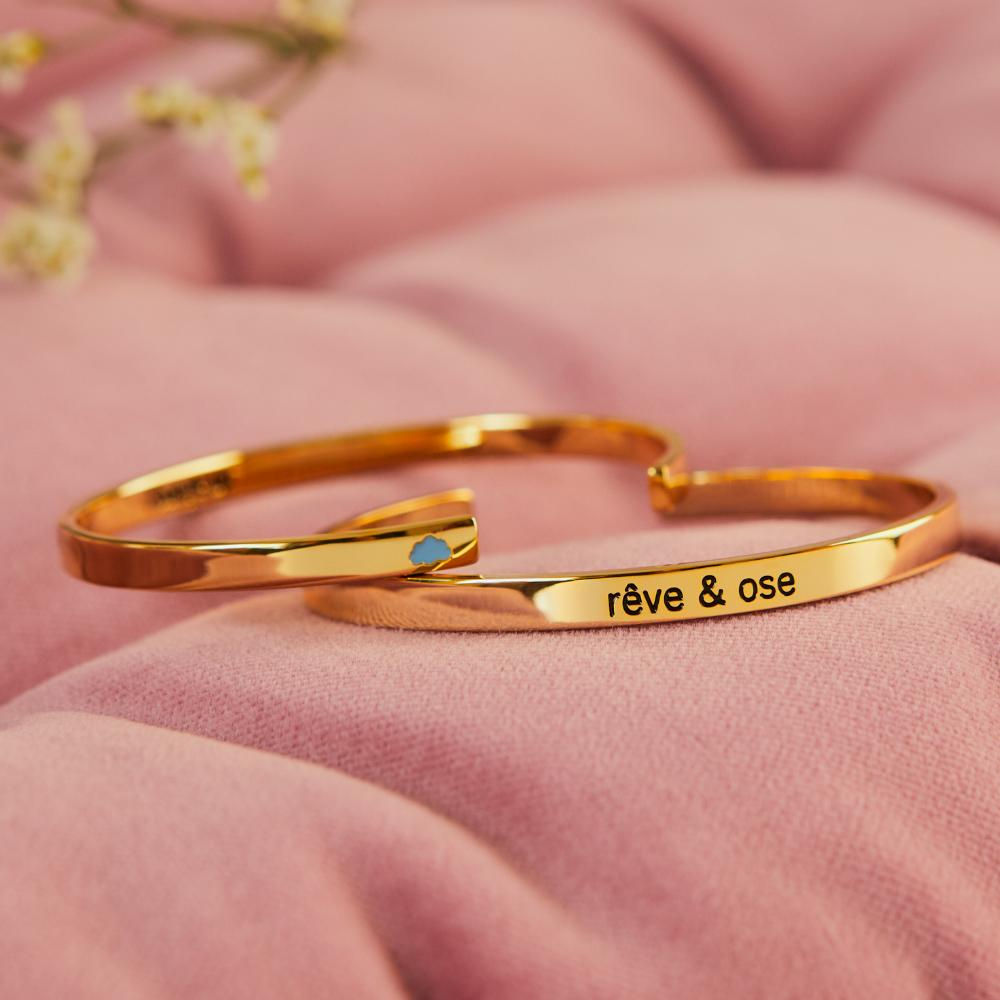 Coffret duo Rêve et Ose - bangle-up - Coeur Grenadine