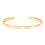 Jonc Tempo Blanc sable - bangle-up - Coeur Grenadine