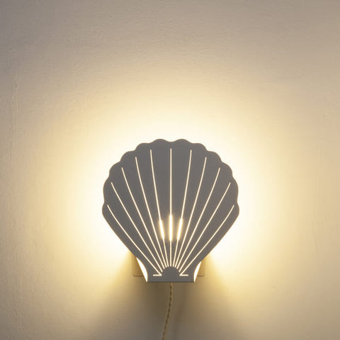 Lampe Coquillage Ivoire