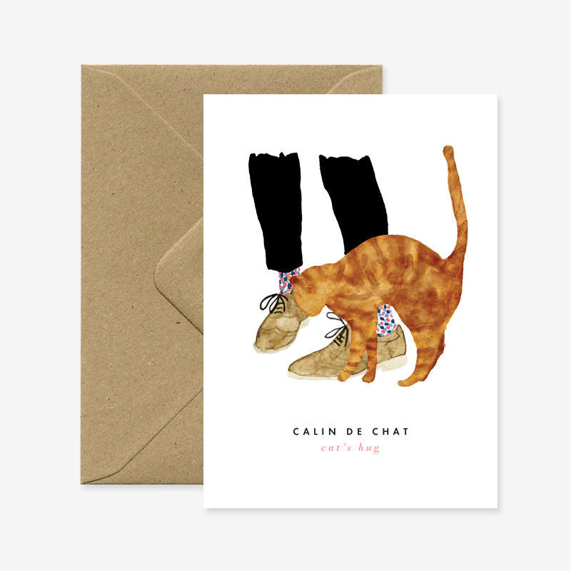 Carte Câlin de chat - All the ways to say - Coeur Grenadine