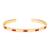 Jonc Tempo Rouge velours - bangle-up - Coeur Grenadine