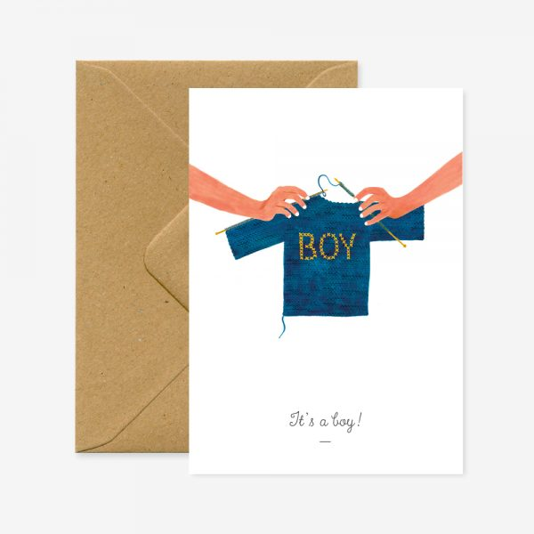 Carte It's a Boy - All the ways to say - Coeur Grenadine