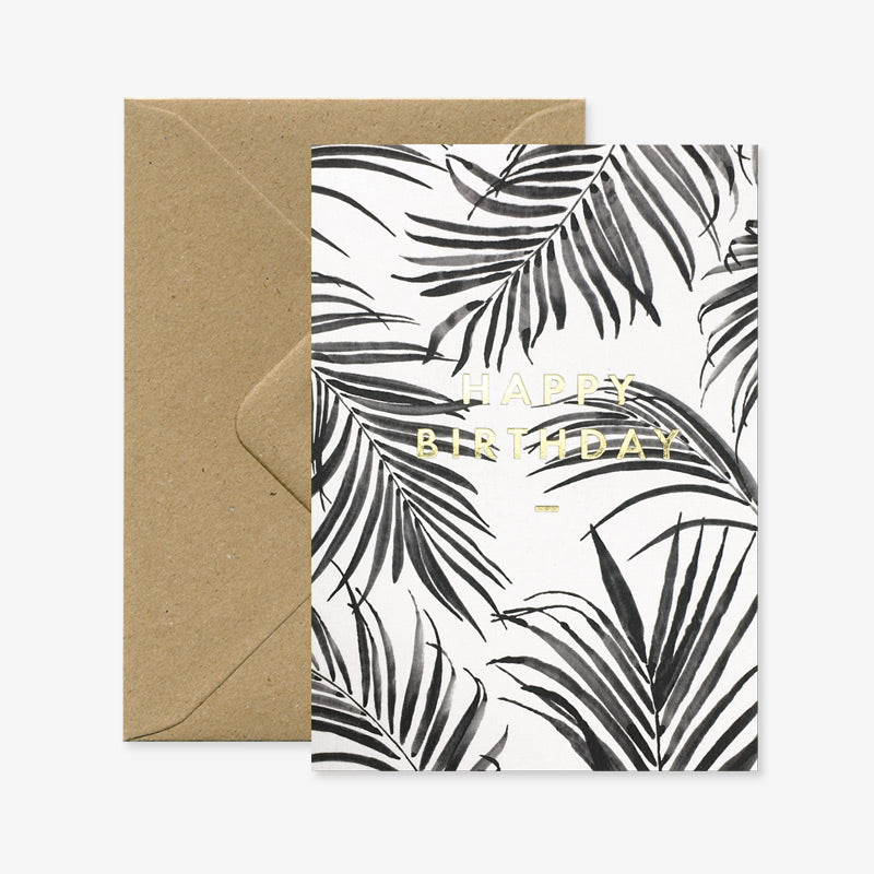 Carte Happy Birthday Palm Tree - All the ways to say - Coeur Grenadine
