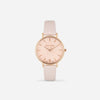 Soft Pink Rose Gold Strap - Genuine Leather or Vegan Leather 33mm