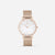 Champagne Gold White Agate Mesh - White Agate : Soothing : 38mm