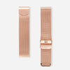 Rose Gold White Agate Mesh - White Agate : Soothing : 38mm