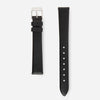 Black Silver Strap - Genuine Leather or Vegan Leather 33mm