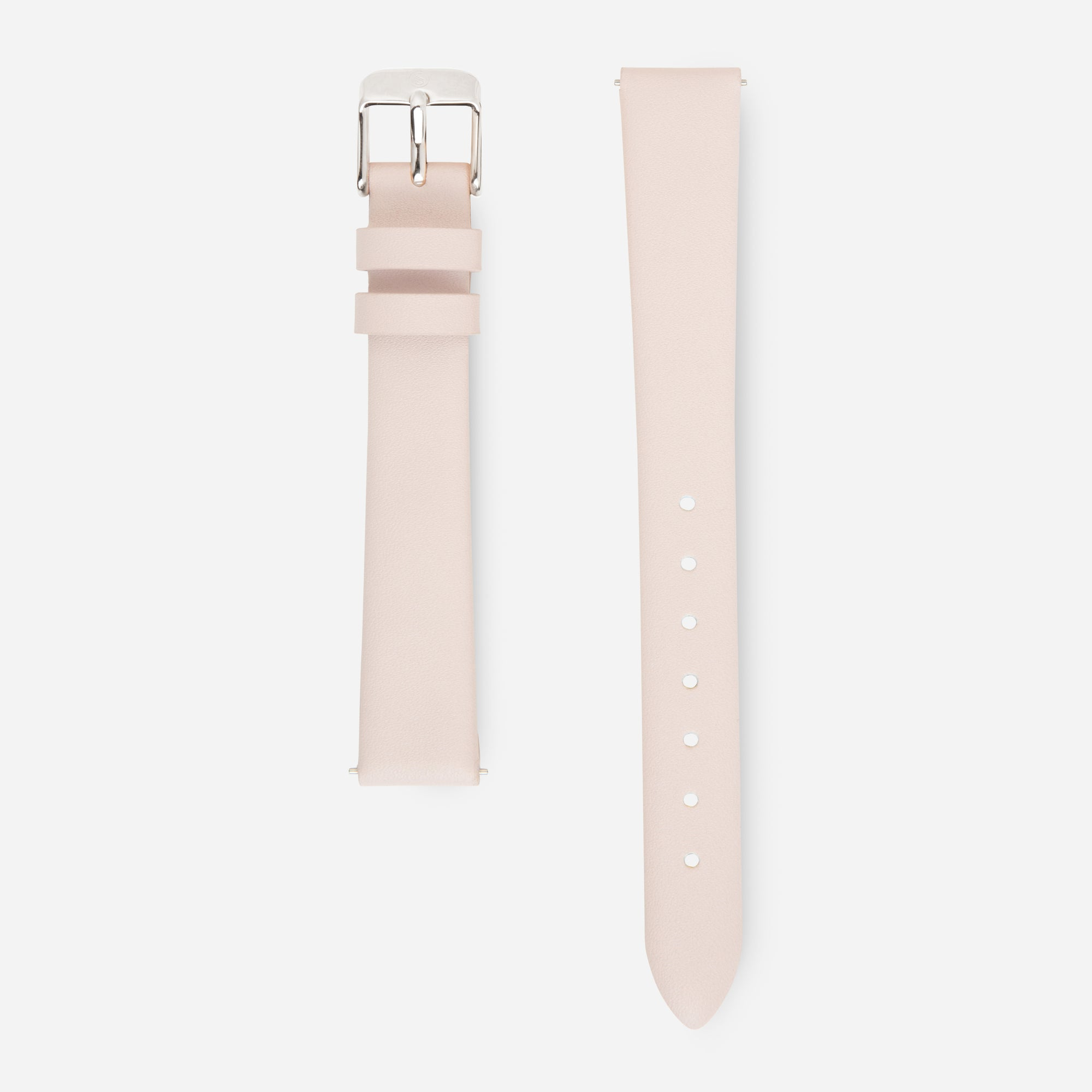 Soft Pink Silver Strap - Genuine Leather or Vegan Leather 33mm