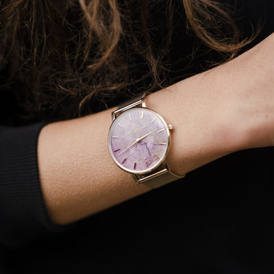 Liberty Amethyst Champagne Gold - Amethyst : Protecting : 38mm