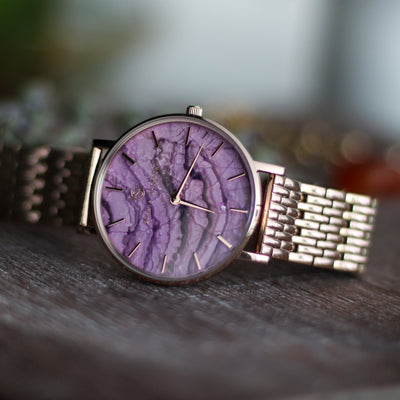 New! Liberty Marble Amethyst Champagne Gold - Amethyst Marble : Protecting : 38mm   Sold Out!