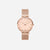 The Rose : Rose Gold Chain 33mm - Pink Quartz : Love