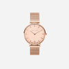 The Rose : Rose Gold Chain Diamond 33mm - Pink Quartz : Love Featuring Solo Diamond to Dial