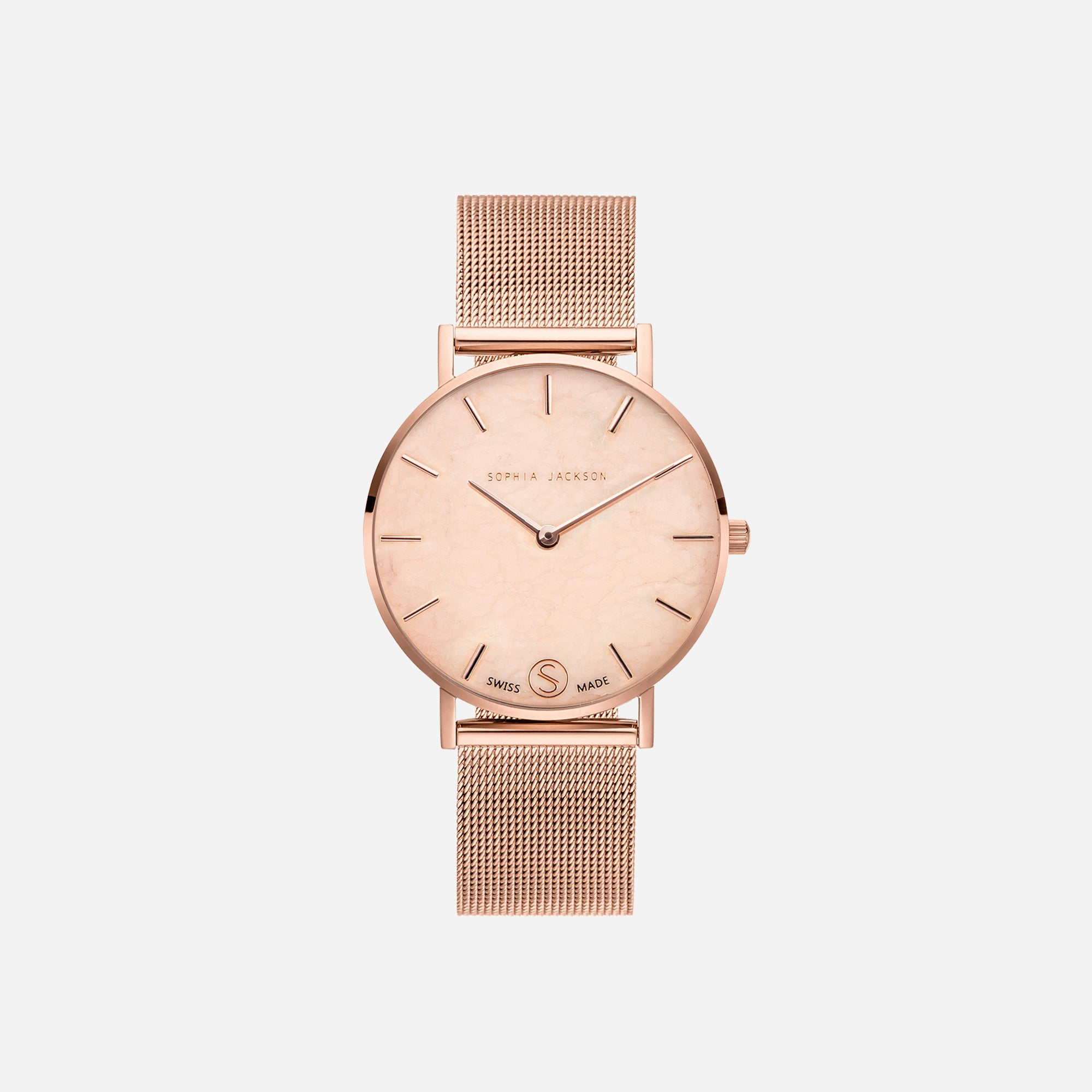 The Rose : Rose Gold Chain 38mm - Pink Quartz : Love