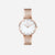 Liberty Mini White Agate Rose Gold - White Agate : Soothing : 33mm