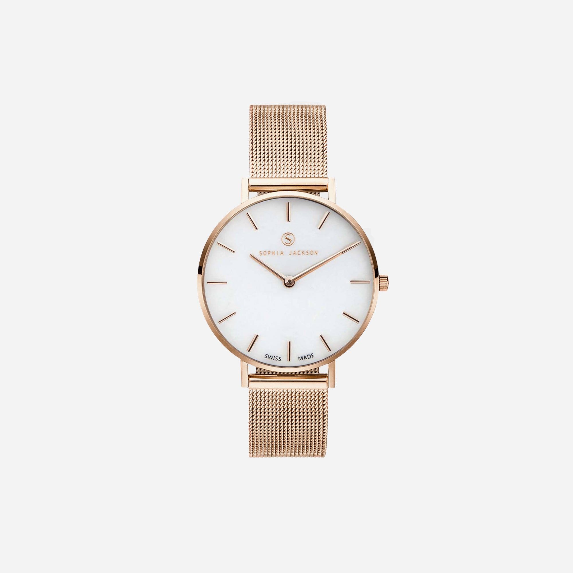 Champagne Gold White Agate Mesh - White Agate : Soothing : 33mm